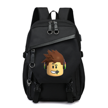 Roblox Theme Luxury Series Backpack Schoolbag Daypack USB Port B Bag
