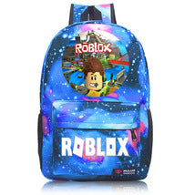 Roblox Theme Starry Sky Black Backpack Daypack Schoolbag Round Scene Bag