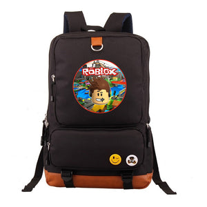Roblox Theme Unique Series Backpack Daypack Schoolbag Black Scene Bag