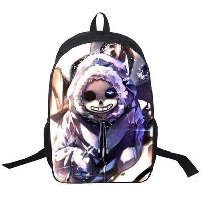 School Bags With Game - Undertale Sans Wear Sweater Pattern Shoulder Daypack Backpack For Kids