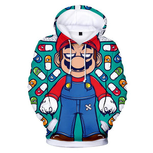 Super Mario Mario Pullover Hoodie for Kids