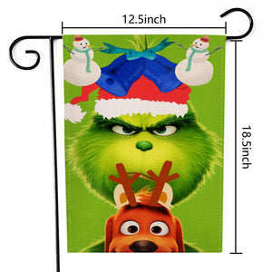 The Grinch Garten Flag Double Sided Yard Decor Party Daily Use