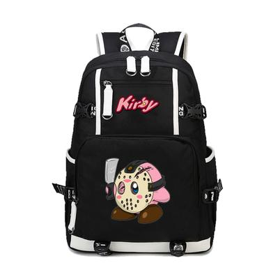 Kirby Mask Killer Backpack School Bag For Kids Back to School Daypack