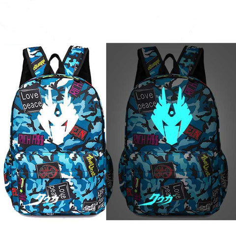 Kids Daypack Masked Rider Kamen RiderSchool Backpack Glow In The Dark