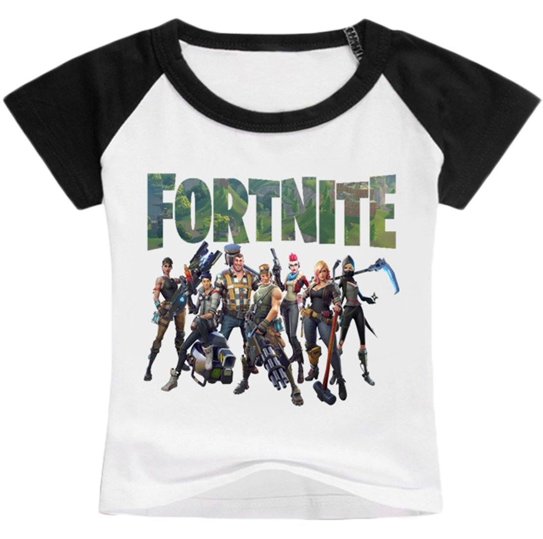 2018 Premium Fortnite  Printed Unisex T-shirt Summer Novelty Kid's shirt Short Sleeve Shirt BT
