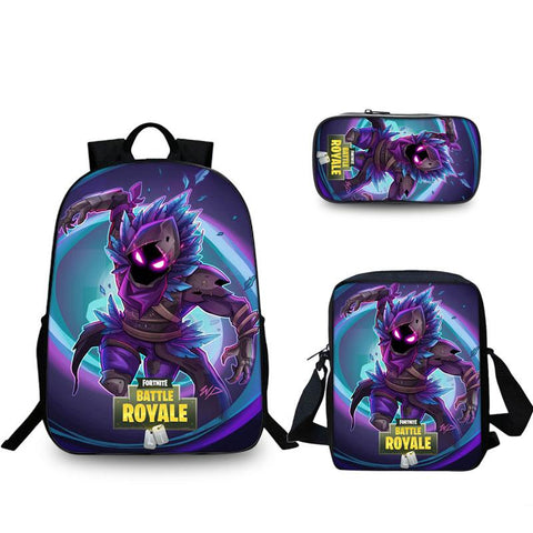 Fortnite Battle Royale Raven Dark Backpack Pencil Case Shoulder Bag Back to School