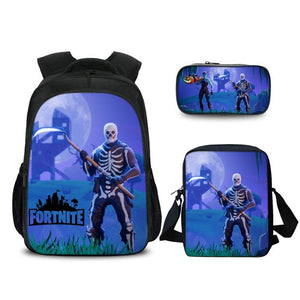 Fortnite Skull Trooper Backpack Pencil Case & Shoulder Bag Back to School Set 3in1