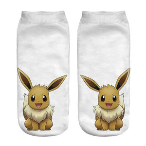 Eevee - Pokemon Short-GO Socks