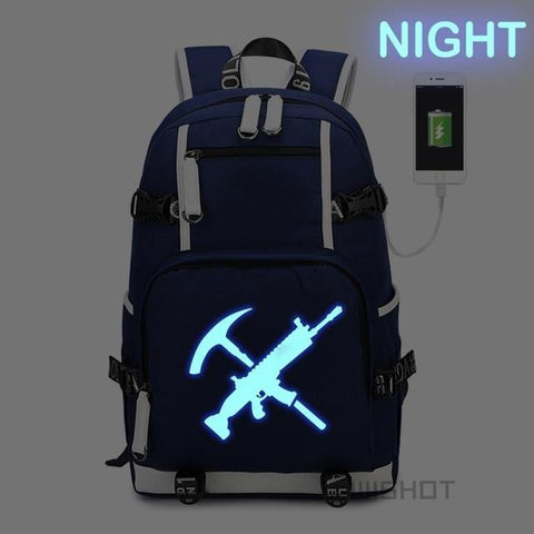 The Resources - Glowing Fortnite Battle Royale School Backpack