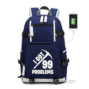 99 Problems - Glowing Fortnite Battle Royale School Backpack