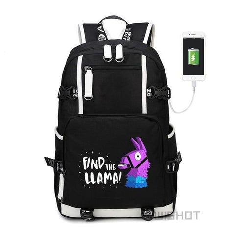 Find The Llama! - Glowing Fortnite Battle Royale School Backpack