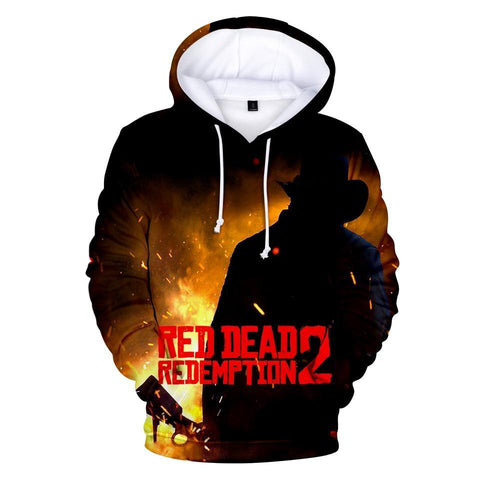 Flames - Red Dead Redemption 2 Cotton Hoodie