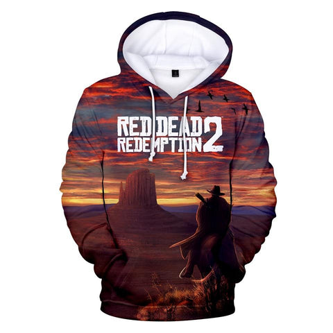Overview - Red Dead Redemption 2 Cotton Hoodie