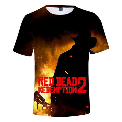 Flames - Red Dead Redemption 2 Cotton T-Shirt