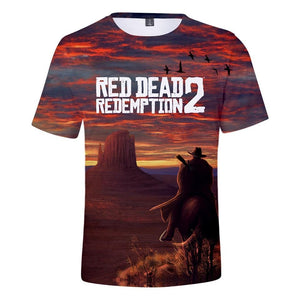Overview - Red Dead Redemption 2 Cotton T-Shirt