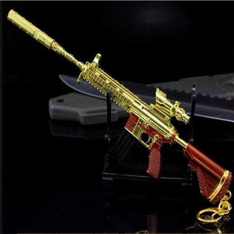 Golden M416 Key Pendant Playerunknown's Battlegrounds Mini Collectibles