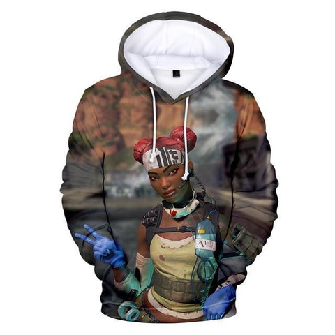 Lifeline II - Apex Legends Premium GameCoral Hoodie