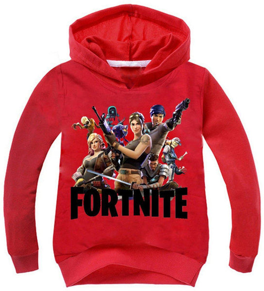 2018 Premium Fortnite Girls' Team Printed Unisex Hoodies Novelty Kid's Sweatshirt