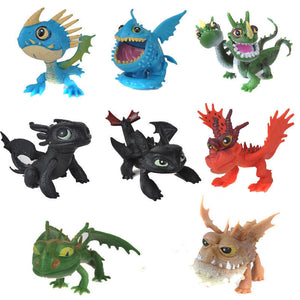 How to Train Your Dragon 3 Action Figures Set: Toothless Night Fury Nadder 8 pcs
