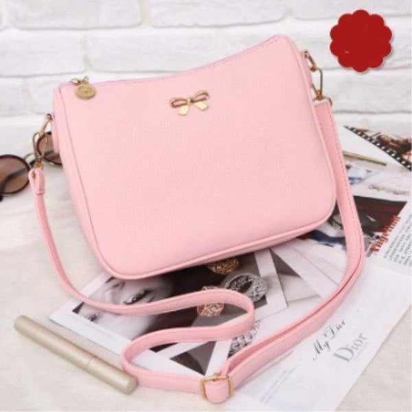 Cute Bow Leather Handbag Shoulder Bag for Women