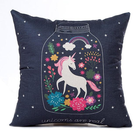 Fancy Unicorn Cushion Cover Pillow Case 18 x 18 Inch 16 Styles