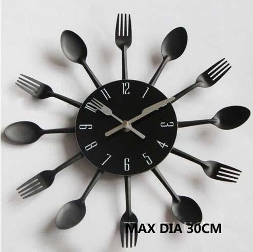Cooking Restaurant Kitchen Knife Fork Spoon Wall Clock