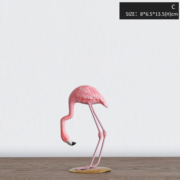 3 Styles Resin Pink Flamingo Home Decor Figure