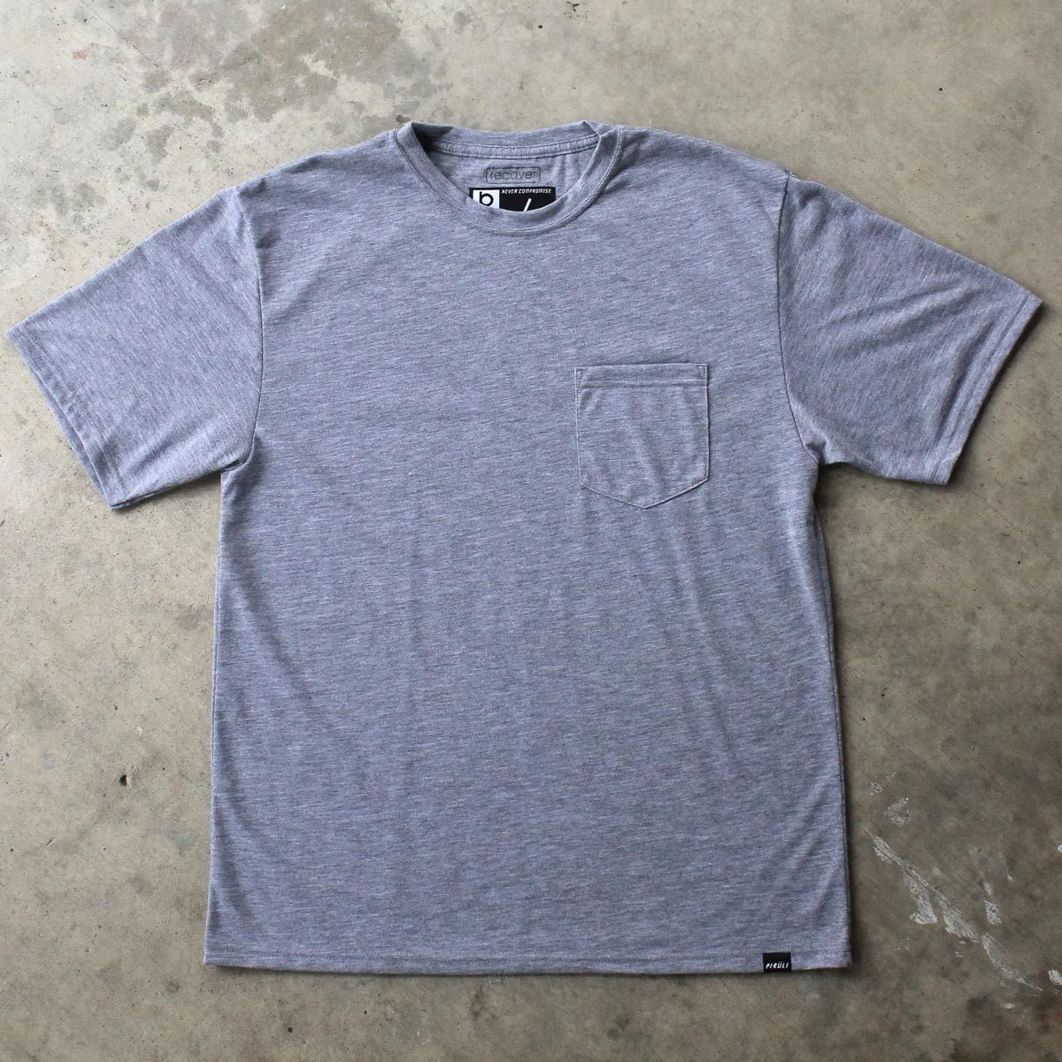 Stone Grey Pocket Tee