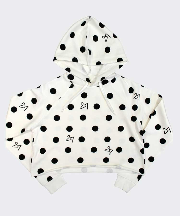 """27"" Dot Cropped Hoodie"