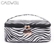 1 Pcs Makeup Cosmetic Bag Storage Pouch Zebra Pattern PU Zipper Portable For Travel Best Sale-WT