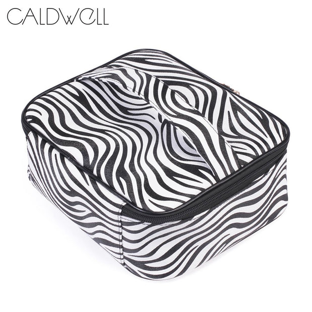 1 Pcs Makeup Cosmetic Bag Storage Pouch Zebra Pattern PU Zipper Portable For Travel New