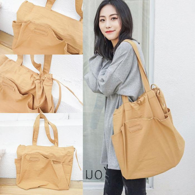 1 Pcs Women Lady Student Shoulder Bag Drawstring Fashion For Travel Mobile Phone FA$3