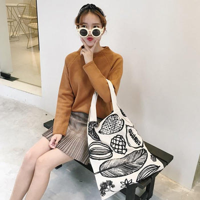 1 Pcs Women Lady Student Shoulder Bag Printing Fashion For Travel Mobile Phone FBE3