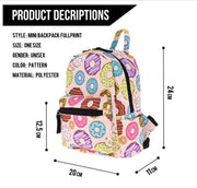 1 Piece 3D Donut Doughnut Printing Backpack Travel Bag Teenage Girls Travel Laptop Schoolbag Mochila For Kids