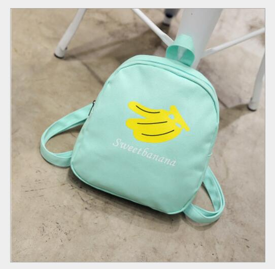 1 Piece Banana Lemon Watermelon Backpack For Teenage Girls Canvas Laptop Schoolbag Fruit Prints Women Travel Rucksack