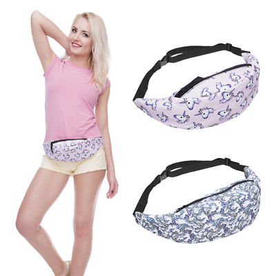 2017 New Cute Women Waist Bag Cartoon Unicorn Casual Functional Waist Packs Fanny Bag For Money Phone Women Bag Female Chest Bag