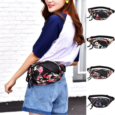 2018 Fashion Women Decorative Pattern Waist Bag Gym Fitness Bag Chest Package Girl Sport Bag