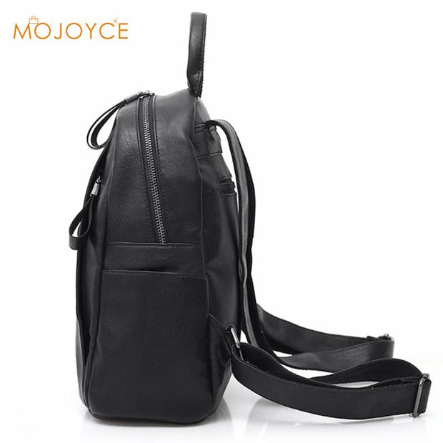 2018 Luxury Women Backpack Solid High Quality PU Leather Backpack Women  Designer Travel Backpack School Bags 7193eaed1c41f
