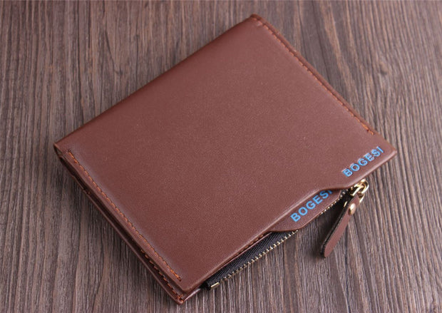 2018 New Style Fashion Men's Women's Wallet PU Leather Solid Zipper Short Mini Blocking Zipper Thin Pocket