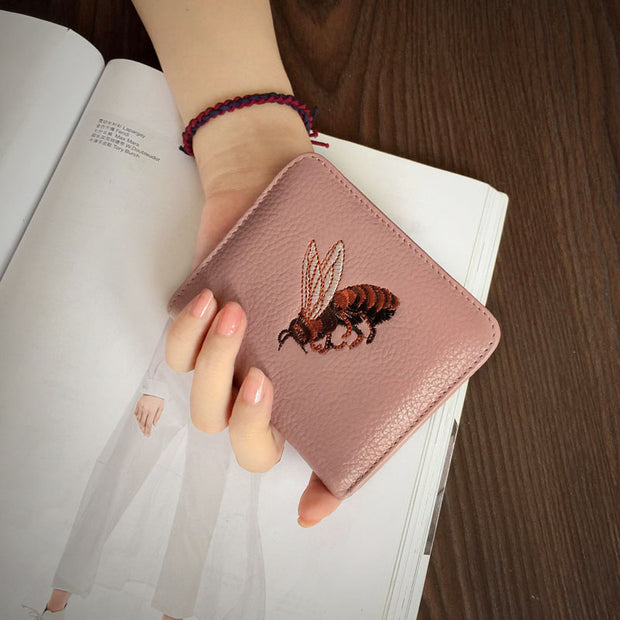 2018 Unisex Top Real Leather Selling Hasp Korean Slim Eighty Percent Off Short Small Wallet Buckle Female Simple Cute Mini