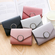 2019 Female Wallets New Arrival Wallet Short Women Wallets Hasp Purse Solid PU Leather Wallets Trendy Coin Purse Card Holder 448
