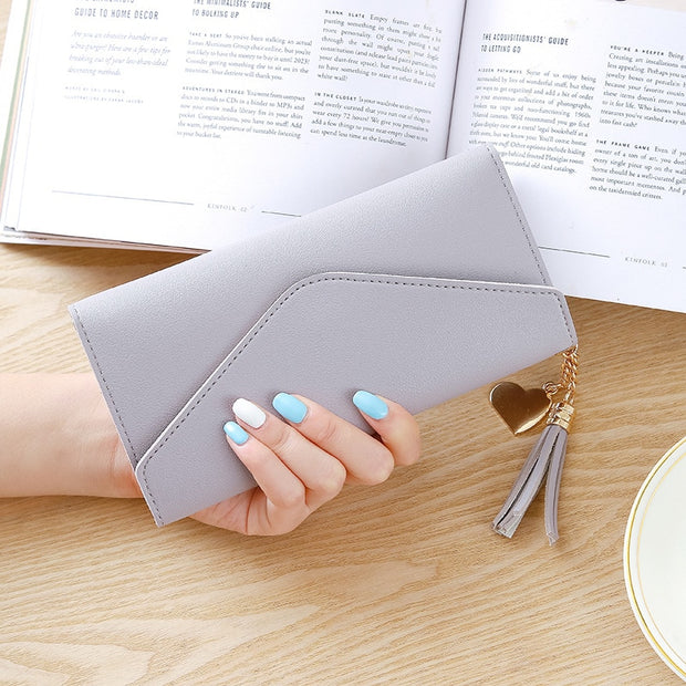2019 Ladies Long Wallet Women Purses Tassel Fashion Coin Purse Card Holder Wallets Female Clutch Money Bag Leather Wallet 446
