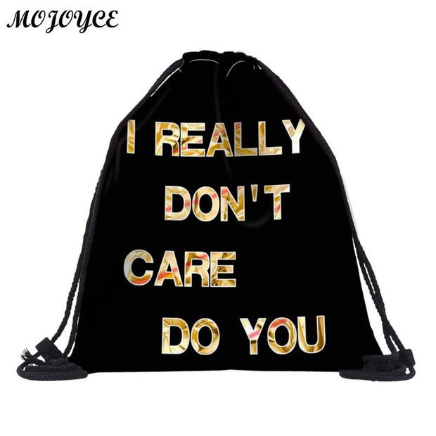3D Digital Printed Beach Bags Women Drawstring Backpack Pouch Outdoor Gym Sports Travel Portable Storage Bags For Men Mochila