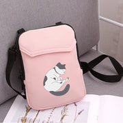 APP BLOG Brand Cute Sleep Cat Women Mobile Phone Bag For Samsung/iPhone/Huawei/HTC/LG Pocket Bag Outdoor Crossbody Messager Bag