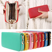 Adisputent Women Long Clutch Wallets Female Fashion PU Leather Bowknot Coin Bag Phone Purses Lady Cards Holder Wallet