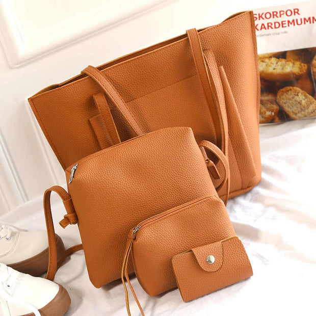006a6099a09f Aelicy 4 PCS/Set Buy One Get Four Bags 2019 PU Leather Handbags ...