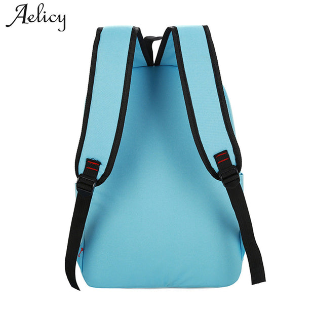 21a3017cc Aelicy 5Pcs/set Backpacks For School Teenagers Girls Canvas Women Backpack  Schoolbag Printing Cute Cat