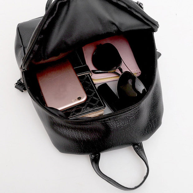Aelicy Famous Designer Backpack Women Black Leather Zipper Strap Shoulder  Bag Girls School Backpack Travels Bags a8a431e5535f2