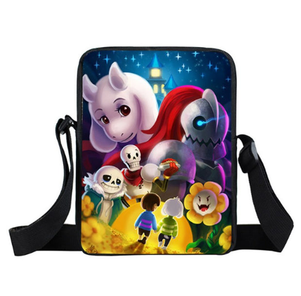 Anime Undertale Mini Messenger Bags Sans Papyrus Kids School Bags
