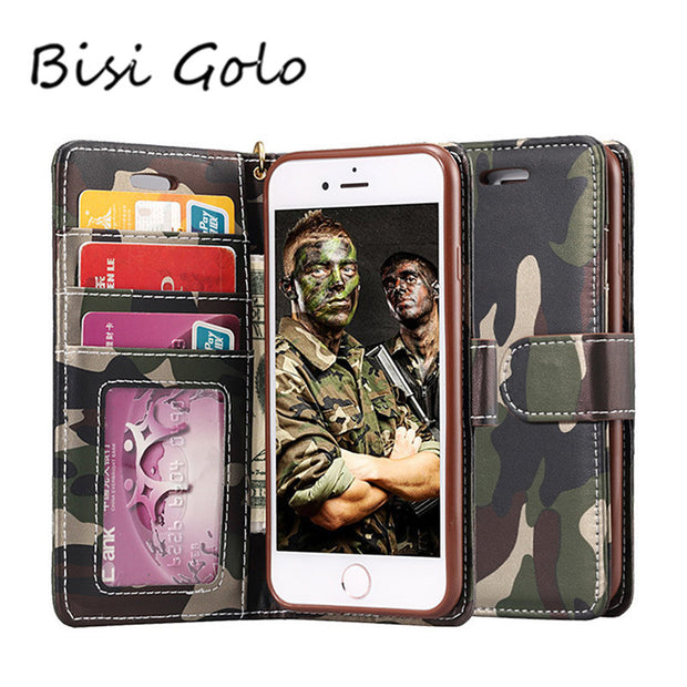 BISI GORO Genuine Leather Phone Case SamsungS5 SamsungS6&S6dege SamsungS7&S7dege Design Stand With Card Wallet Card Holder